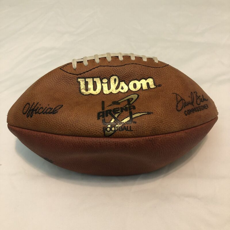 Wilson Official Arena 2 Football AFL 2 Commissioner David Baker Ironman Ball