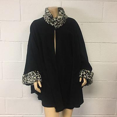 Black Cheetah (Cejon Women's Black - Cheetah print Sweater Size Small & Medium)