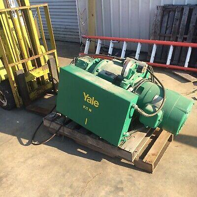 Yale Cable King Electric Hoist 5 Ton Model 1001cm Motorized Trolley 2010 Fpm