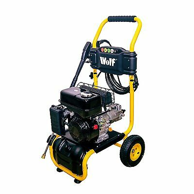 Wolf 220 BAR 3200psi 6.5HP Petrol Driven Pressure Power Washer Metal Lance