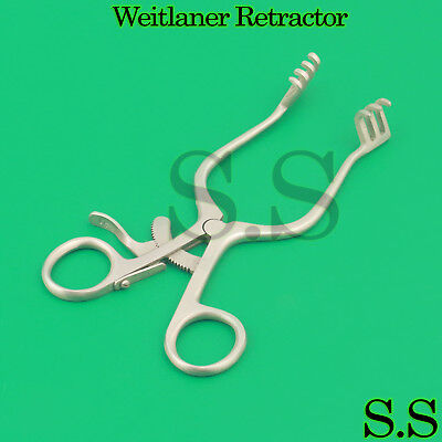 Weitlaner Retractor 6.50 3x4 Prong Blunt