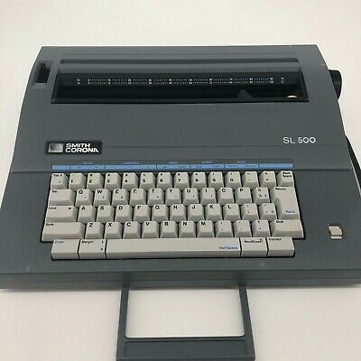 Vintage Smith Corona Sl 500 Typewriter Portable With Cover Bundle