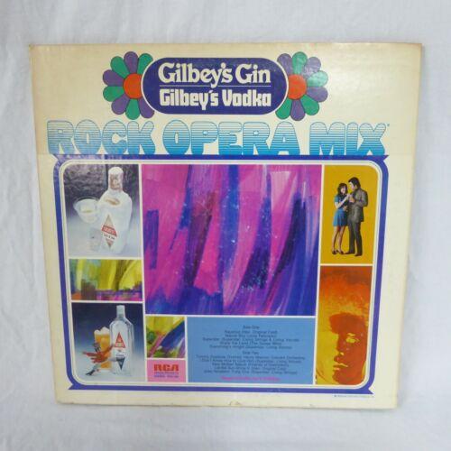 Gilbeys Gin Vodka LP Rock Opera Mix PRS-403 RCA 1972 Drink Recipes Collectors Ed