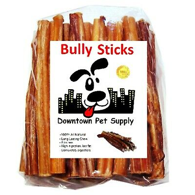 Best Free Range Bully Stick Great Training Dog Treats Low Odor USDA 6 in 1LB