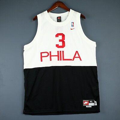 ad3a02614de 100% Authentic Allen Iverson Vintage Nike 76ers HWC Swingman Jersey Size XL  48