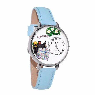 Whimsical Watches Unisex U0450012 Quilting Baby Blue Leather Watch
