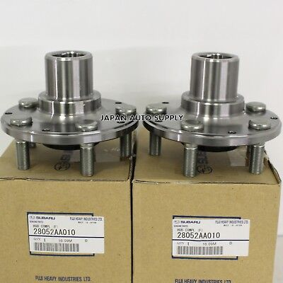NEW OEM SUBARU FORESTER COMPLETE FRONT AXLE WHEEL HUB SET OF TWO 28052AA010 Complete Hub Axle