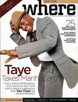 Taye Diggs Where Magazine October 2005 New York Private Practice Rent Hedwig