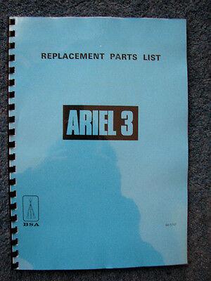 BSA ARIEL 3 PARTS BOOK - BP73