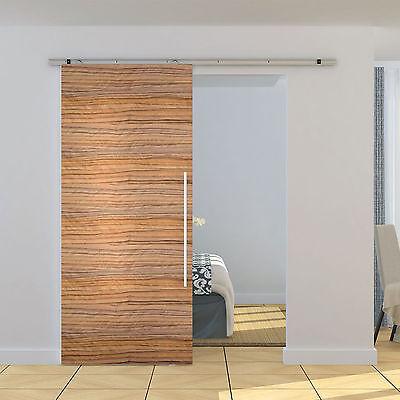 6ft Sliding Barn Wood Door Hardware Steel Slide Closet Rail Track Kit Home Set