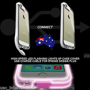 iphone 5s led case led lights up cover with usb charge cable 14822