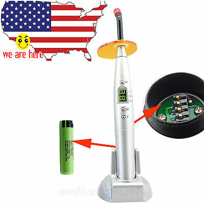 New Ce Fda White Silver Dental 10w Cordless Led Curing Light Cure Lamp 2000mw