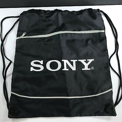 Original SONY Drawstring Bag w/Zip Pocket and Headphone Port 15x18 inches for sale  Shipping to India