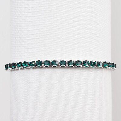 Touchstone Crystal Swarovski Birthstone Bracelet, May Emerald Crystal -