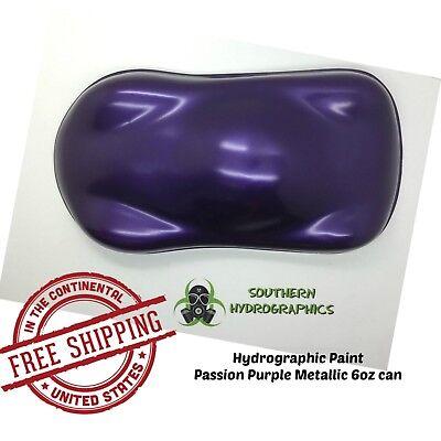 Hydrographic Film Hydro Dip Kit Paint Base 6oz Aerosol Passion Purple Metallic
