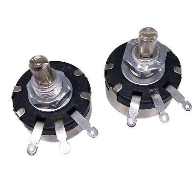 Us Stock 2pcs 10k Ohm Wx110 Wx010 1w Watt Wirewound Potentiometer Pots New