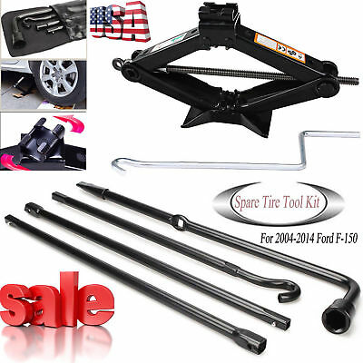 For Ford F150 Spare Tire Tool Change Kit Car jack Handle Lug Wrench