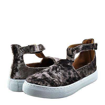 Women's Shoes Qupid Reba 103C Textured Ankle Strap Sneaker Mauve Velvet *New* Ankle Strap Sneakers