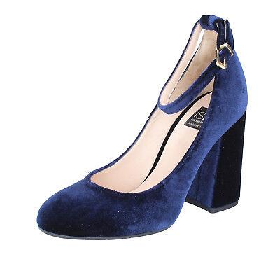women's shoes ISLO ISABELLA LORUSSO 7 (EU 40) courts blue velvet BZ234-F