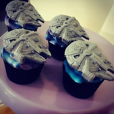 Star Wars Cake Toppers Edible Millennium Falcon Hand Made Set Of 6