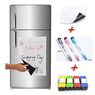A4 Flexible Fridge Magnetic Whiteboard Memo Reminder Board Pen Eraser Magnet CE