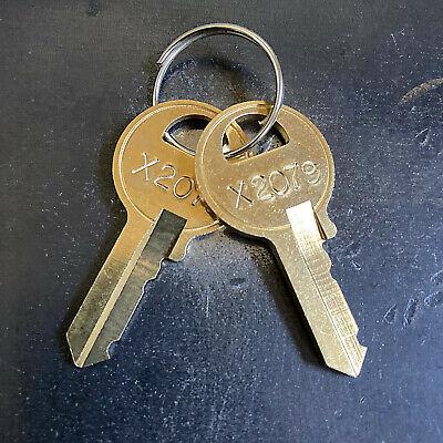 2 Master Padlock Keys - Key Code X2001 - X2250 ---must Have X Read Disclaimer