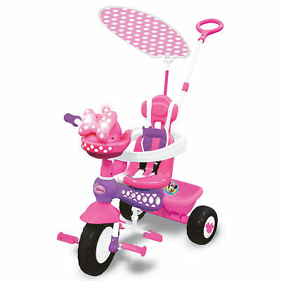 Kiddieland Minnie Mouse Push N' Ride 3-in-1 Trike + Sun Shade & Music | 048983