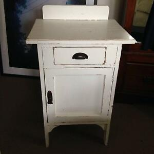 White shabby-chic vintage pot cabinet Balwyn Boroondara Area Preview