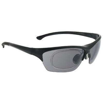 Sportbrille Unisex Radbrille schwarz Sonnenbrille mit Innenclip in Sehstärke Neu