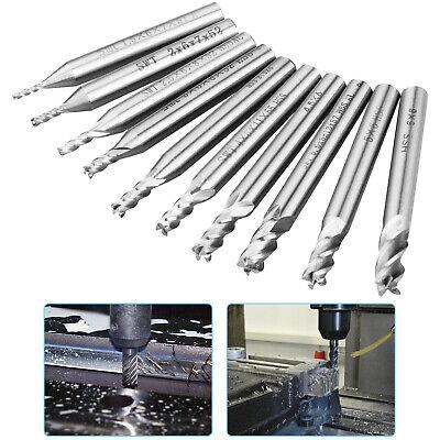 """3//16/""""SD,5//8/"""" FL,2/""""OAL 10pcs 11//64/"""" Carbide End Mill,2 Flute"""