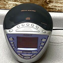 Sony Dream Machine ICF-CD853V CD Player AM/FM/Weather Alarm Clock Radio