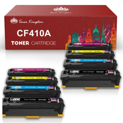 5 PK CF410A Black Toner Cartridge For HP Color LaserJet M452nw M477fdn M477fdw