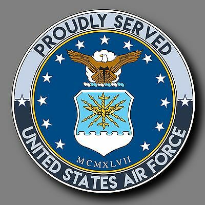 "US Air Force Veteran Decal Sticker 4"" USAF"