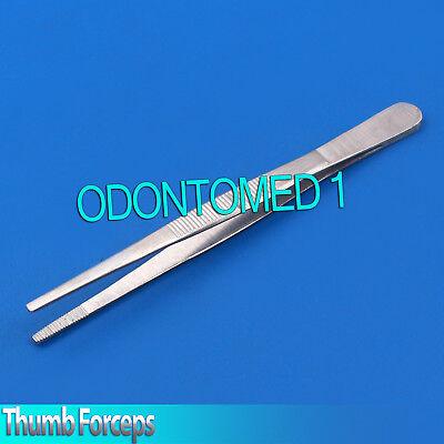 Surgical Dressing Tweezer Plain Thumb Forceps Serrated Tip Medical Instruments