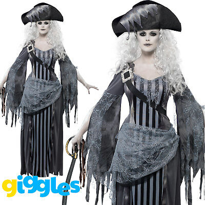 Pirate Costume Womens Ladies Ghost Ship Princess Halloween Fancy Dress Outfit