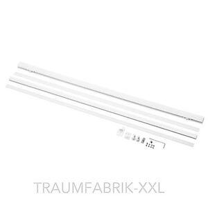 8x Ikea Kvartal Laufleiste mit Beschwerung je 60cm Gardinenstange weiß NEU & OVP