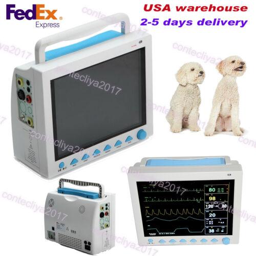 Us Seller,100% Warranty Veterinary Patient Monitor Ecg Nibp Spo2 Resp Temp Pr