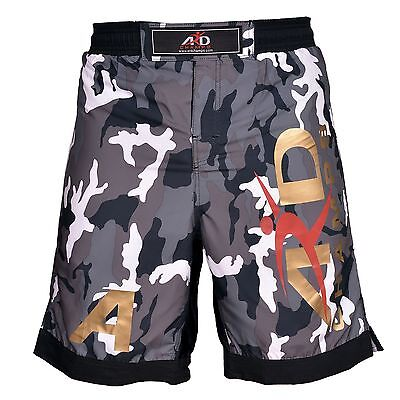 ARD Camo Pro MMA Fight Shorts Urban-Grey Camouflage UFC Cage Fight Grappling Gray Fight Shorts