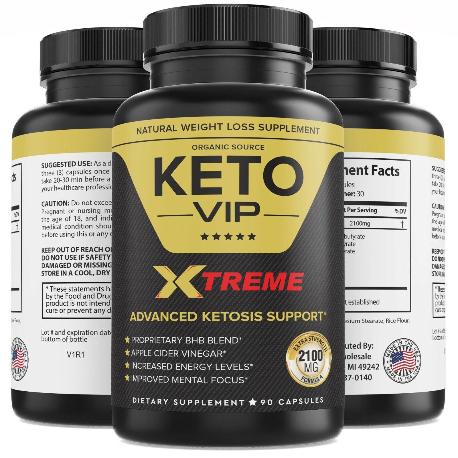 2100MG Keto Diet Pills Advanced Weight Loss that WORKS Burn Fat Carb Blocker VIP