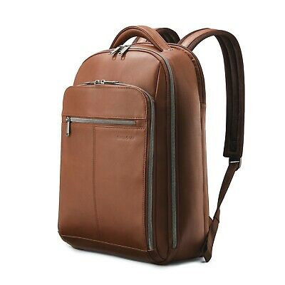 Samsonite Samsonite Classic Leather Backpack-Cognac Brown