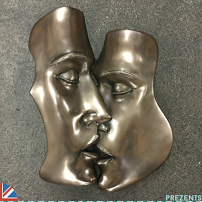 THE KISS EROTIC BRONZE WALL ART SEXY PLAQUE BEDROOM  NAKED NEW H26cm 01605