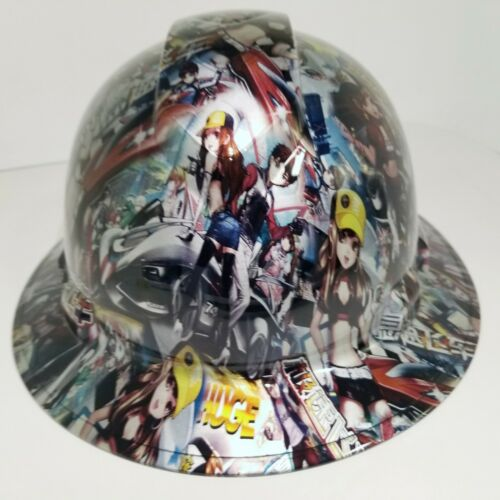FULL BRIM Hard Hat custom hydro dipped, NEW JAPANESE ANIME SPEED RACER GIRLS 4
