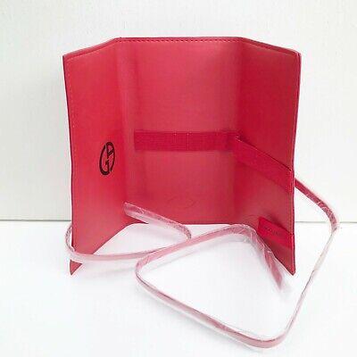 Giorgio Armani Beauty Red Tri-Fold Makeup Brush Bag / Pouch / Purse, Brand NEW