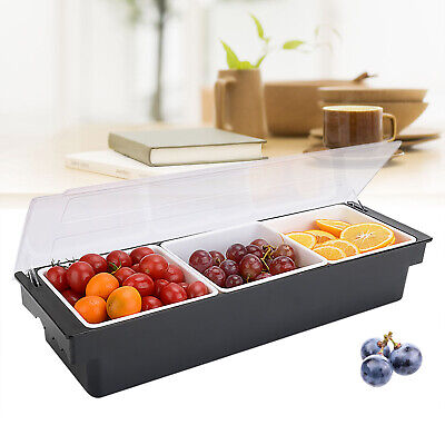 3 Compartment Fruit Box Fresh Keeping Container Sorting Storage Dispenser Wlid