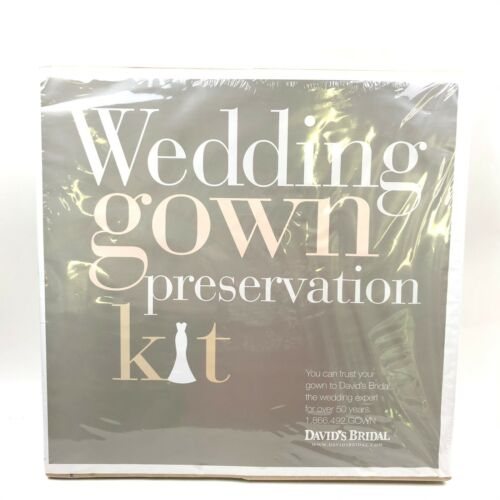 Davids Bridal WEDDING GOWN PRESERVATION KIT Dress Storage Sealed Box New $189