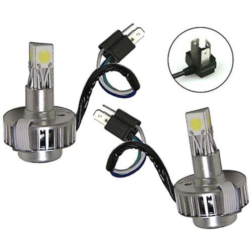 6500k H4  SMD COB 360° LED White Motorcycle Headlight HID Hi//Low Light Bulb