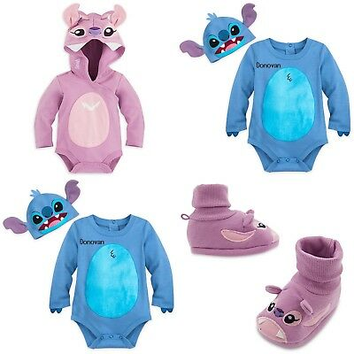 Infant Angel Halloween Costumes (Disney Store Lilo & Stitch Baby Bodysuit Angel Dress Up Costume Shoes Halloween)