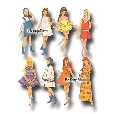 Vintage Doll Clothes WHOLE WARDROBE Pattern ~ Skipper Pepper (Barbie)