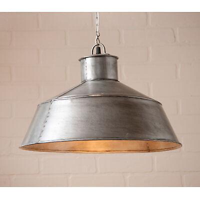LARGE SPRINGHOUSE PENDANT - Country Light in Antique Polished Tin Finish Large Pendant Light Finish