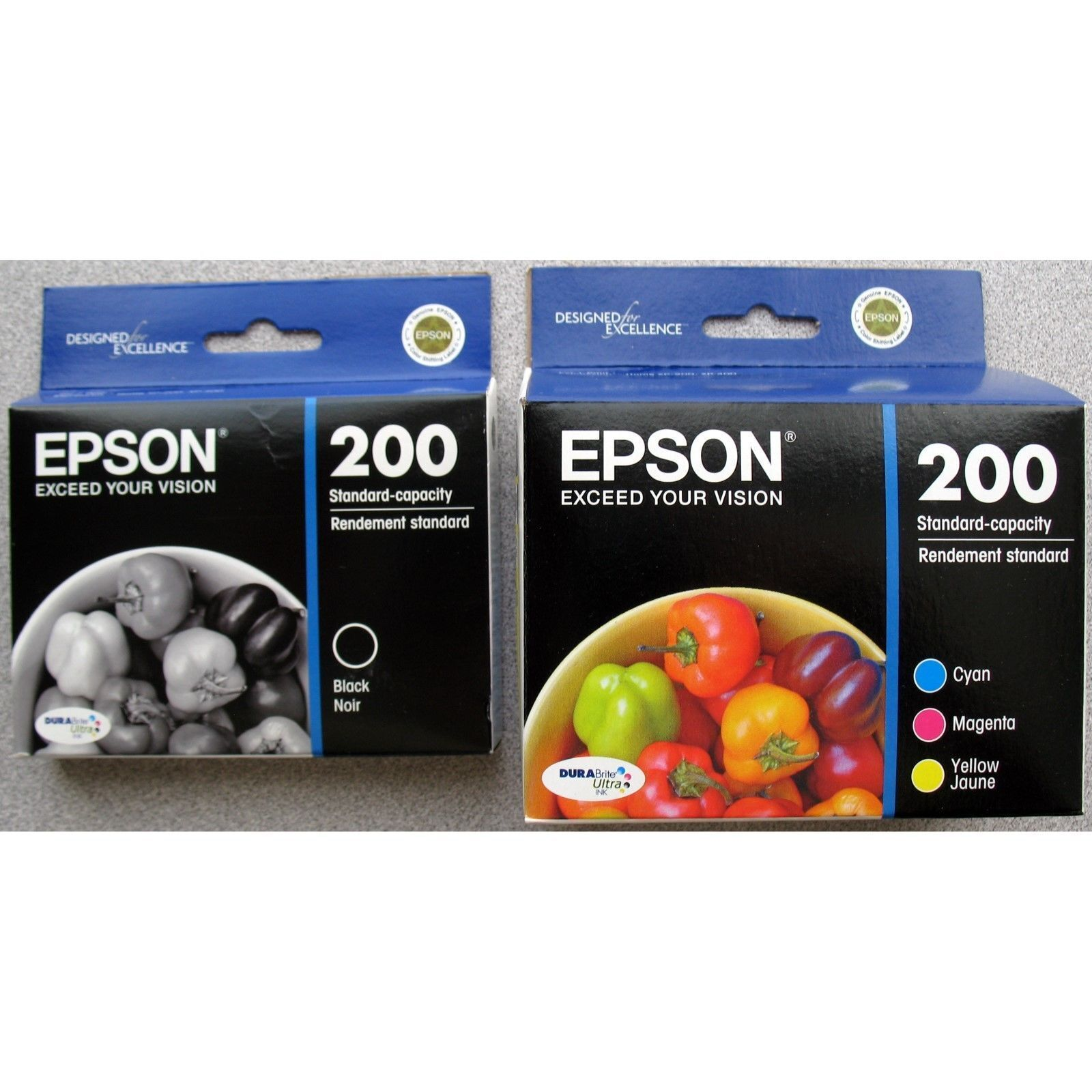 4-pack Epson Genuine 200 Black & Color Ink (retail Box) E...